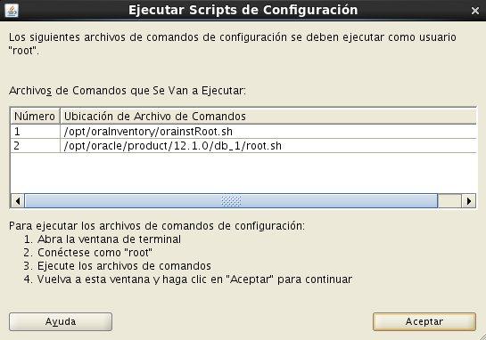 instalación Oracle Database 12c - Centos - 20_1 - Ejecucion scripts de configuracion