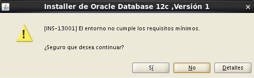 instalacion Oracle Database 12c - Centos - 2_1 -  Descarga actualizaciones software_aviso